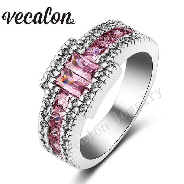 rings best mdean wedding china for engagement aaa women plated gold pink stones white zircon manufacturers suppliers vintage ring stone