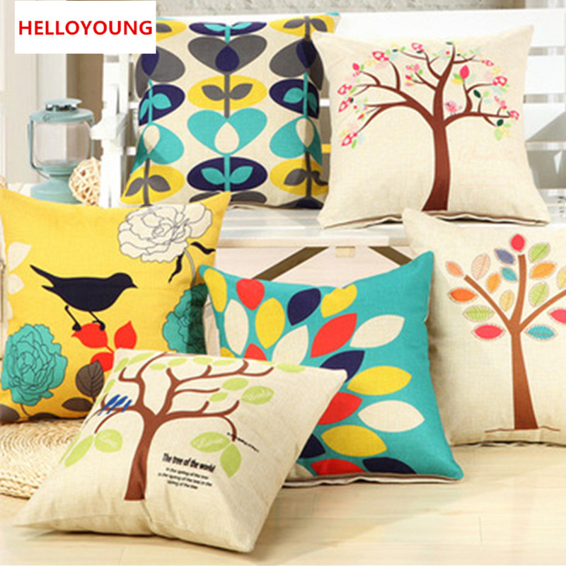 BZ009 Luxury Cushion Cover Pillow Case Flower Cushion Polyester Cotton Home  Decor Sofa Car Seat Decorative