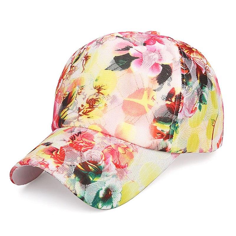 Women Summer Fashion Vintage Adjustable Sport Floral Printed   Baseball     Caps   Girls Snapback Hip-Hop Sun Hats Sunbonnet Accessories