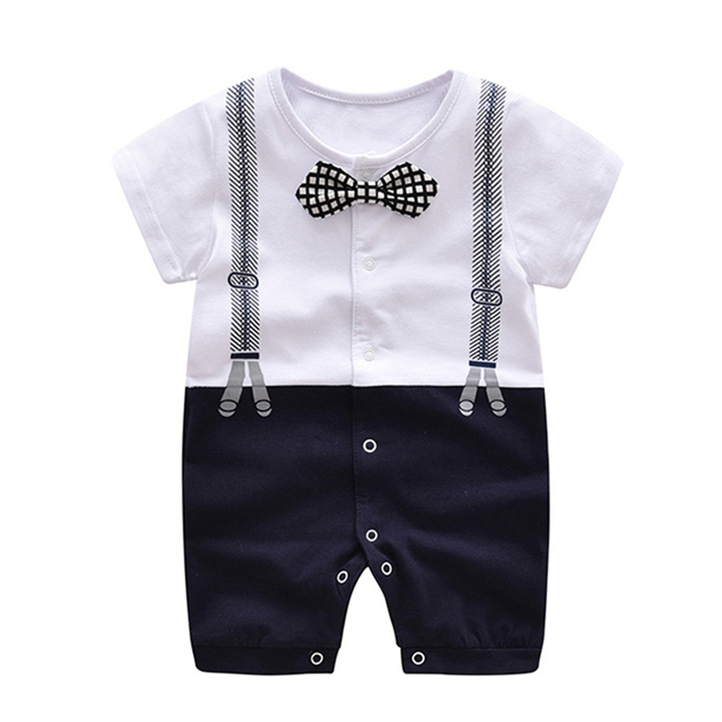 Baby Rompers Summer Baby Boy Clothes Gentleman Newborn Baby Clothes Roupas Bebe Infant Jumpsuit Kids Clothes Baby Boy Clothing summer 2017 navy baby boys rompers infant sailor suit jumpsuit roupas meninos body ropa bebe romper newborn baby boy clothes