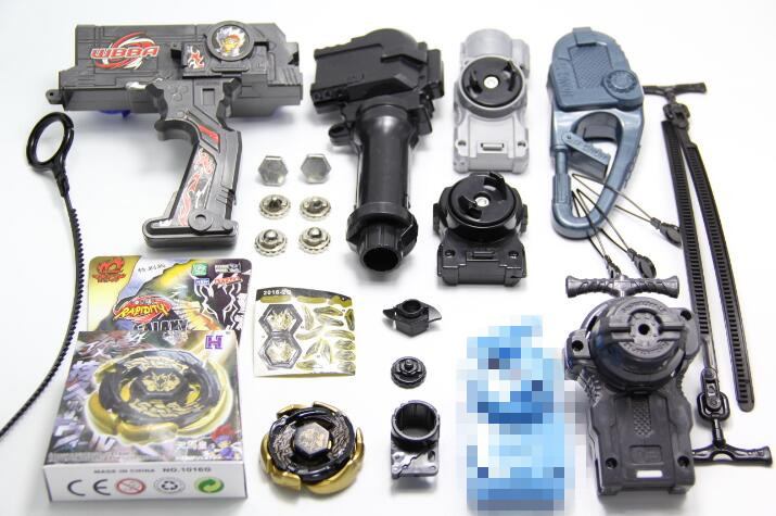 Beyblade Duotron Dual Launcher GOLD Galaxy Pegasus (Pegasis) Beyblade Black Hole / Sun Version Double String Power Left & Right