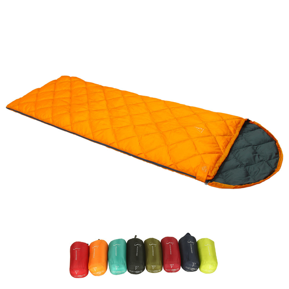 ФОТО 59 Fahrenheit Summer Adult Outdoor Camping Portable Envelope White Duck Down Sleeping Bag/Duvet,Children Anti-falling Quilt