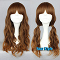 Japanese Harajuku Lolita Wig 60cm Fashion Heat-friendly Synthetic Curly Hair Full Lolita Lovely Wigs for Women Brown Hair Wigs