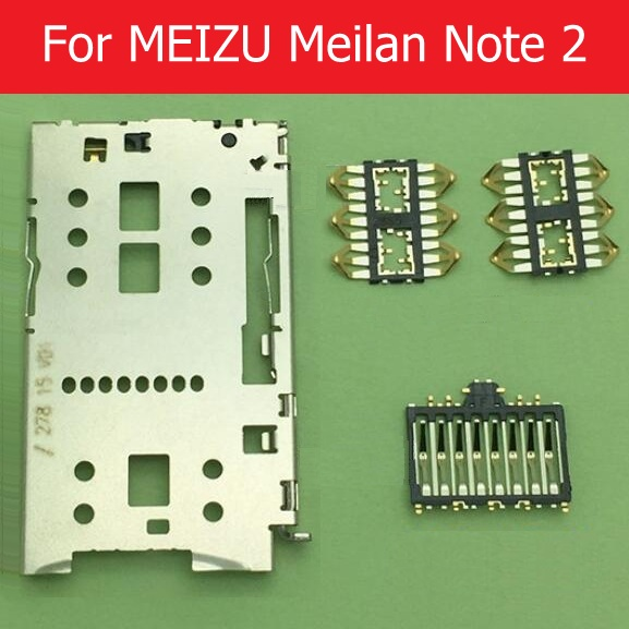 Geniune <font><b>SIM</b></font> card slot holder connector for <font><b>Meizu</b></font> <font><b>M2</b></font> <font><b>note</b></font> card slot socket adapter For Meilan <font><b>note</b></font> 2 <font><b>SIM</b></font> reader <font><b>tray</b></font> replacement image