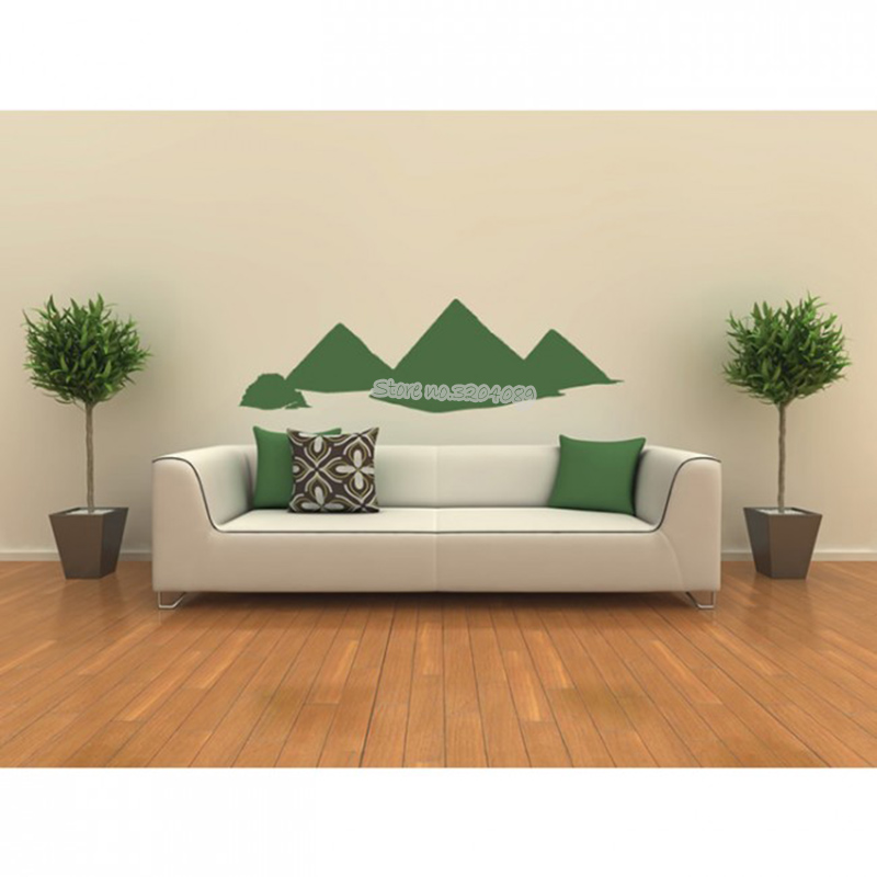 Egyptian Pyramids Wall Sticker Ancient statue Wall Decal ...