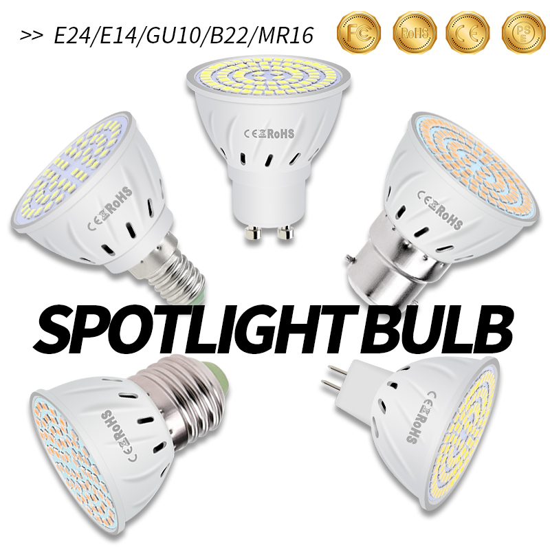 Bombilla Led E14 Spot Light Bulb E27 220V Led Lamp GU10 Energy Saving Led Spotlight MR16 Corn Lamp 5W 7W 9W For Home Garden B22 in LED Bulbs Tubes from Lights Lighting
