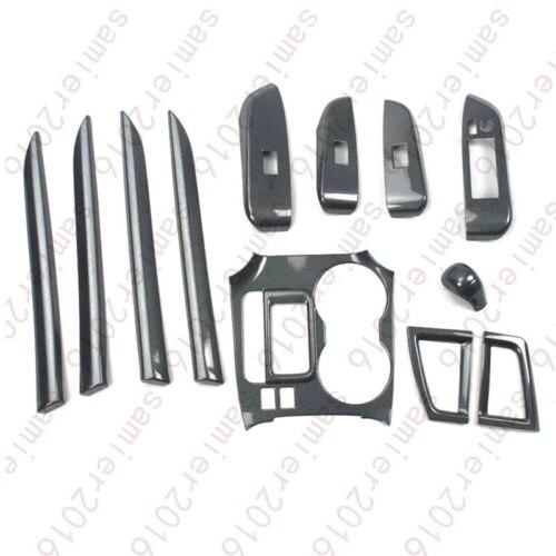 12X Carbon Fiber Color Inner Dash Trim Kit Cover For Toyota Highlander 2014 2015