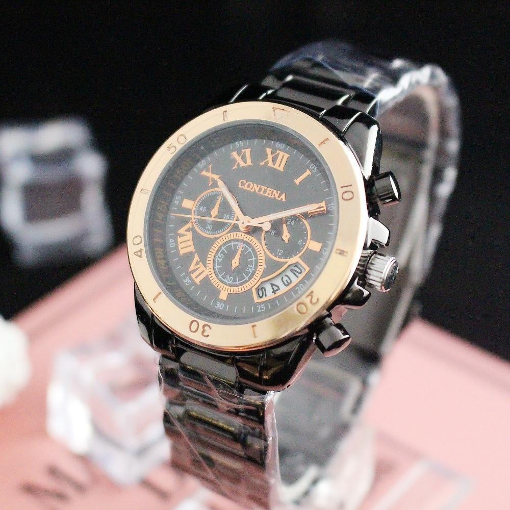 New Fashion watches men Leather Band Analog Quartz Round Wrist Business men's watch Good Quality mike men s business style steel band analog quartz wrist watch golden silver 1 x 626