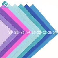 mensugen 40 цветов/партия 30 см х 20 см фетр ткань, полиэстер, нетканые фетр, 1 мм толщиной, ткани ручной работы поделки не тканевые