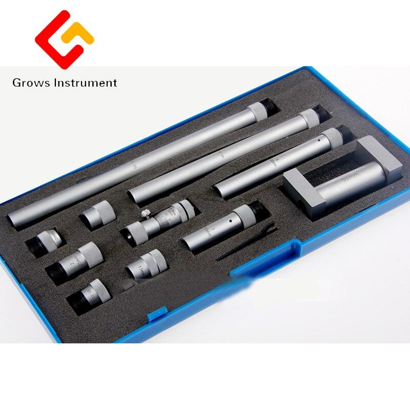 Interne Diamètre Micromètre 50-250mm Précision Micromètre Intérieur Trou Alésage Interne Diamètre Gage Gauge Haute Précision