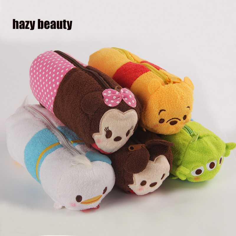 hazy beauty 20CM for tsum tsum soft toys cute pencil case pouch for school Plush Minnie Mickey Donald Duck Plush doll Pen Bags