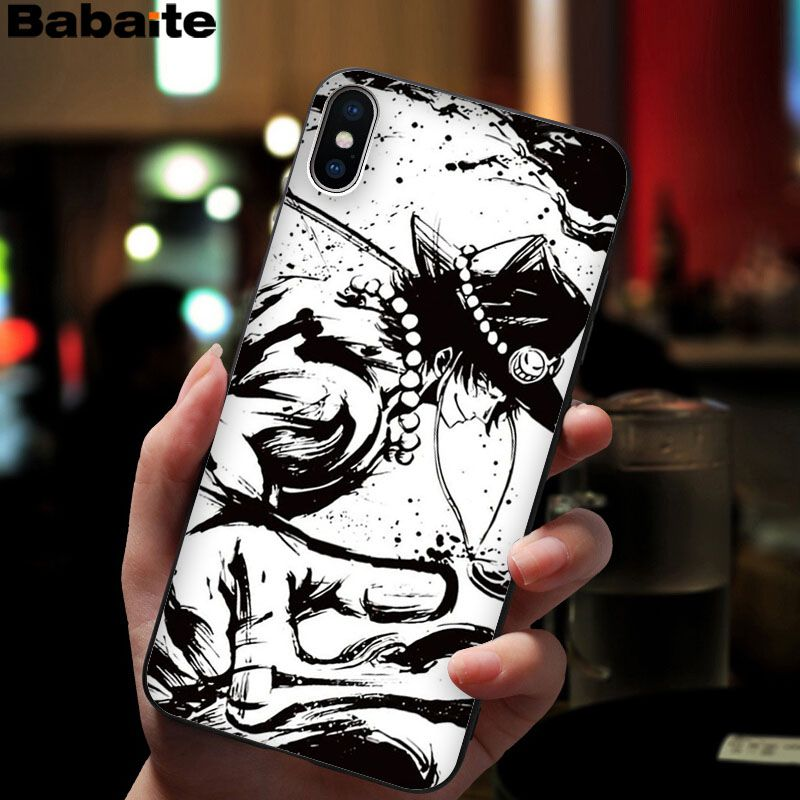 Babaite One piece Anime Soft Silicone black Phone Case for iPhone 8 7 6 6S Plus 5 5S SE XR X XS MAX Coque Shell