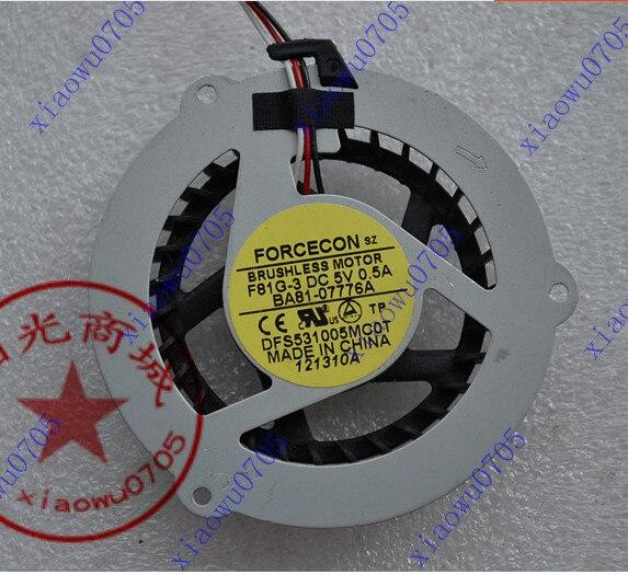 Nouveau CPU ventilateur pour SAMSUNG R463 R467 R468 R470 R517 R518 R519 R520 R522 R468 R425 R560 Q208 Q210 Q318 Q320 ventilateur DFS531005MC0T F81G