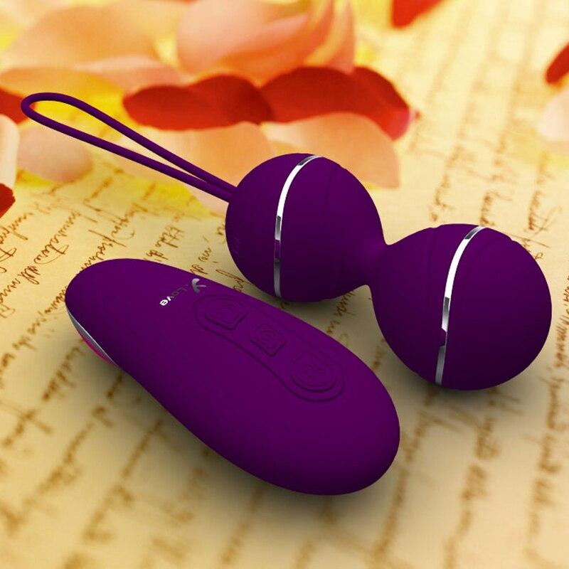 Remote Control Silicone Kegel Ball Vaginal Tight Exercise Vibrating Egg Geisha Ball Ben Wa Balls Dual Vibrator Sex Toy for Woman