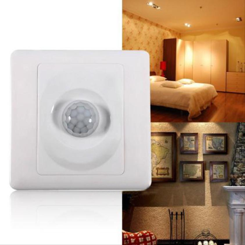 2017 New Automatic Infrared Body Motion Sensor Switch for Wall Mount Control Light
