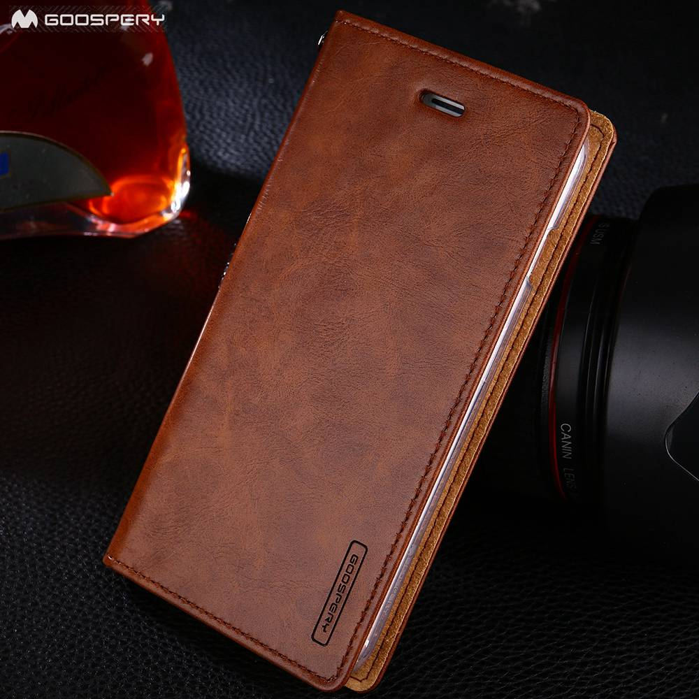 Original Goospery Flip Wallet Leather Case for iPhone 8 Plus 7 Plus 6 6s Plus 5 5s SE Card Slot Stand Holster cover For iPhone X
