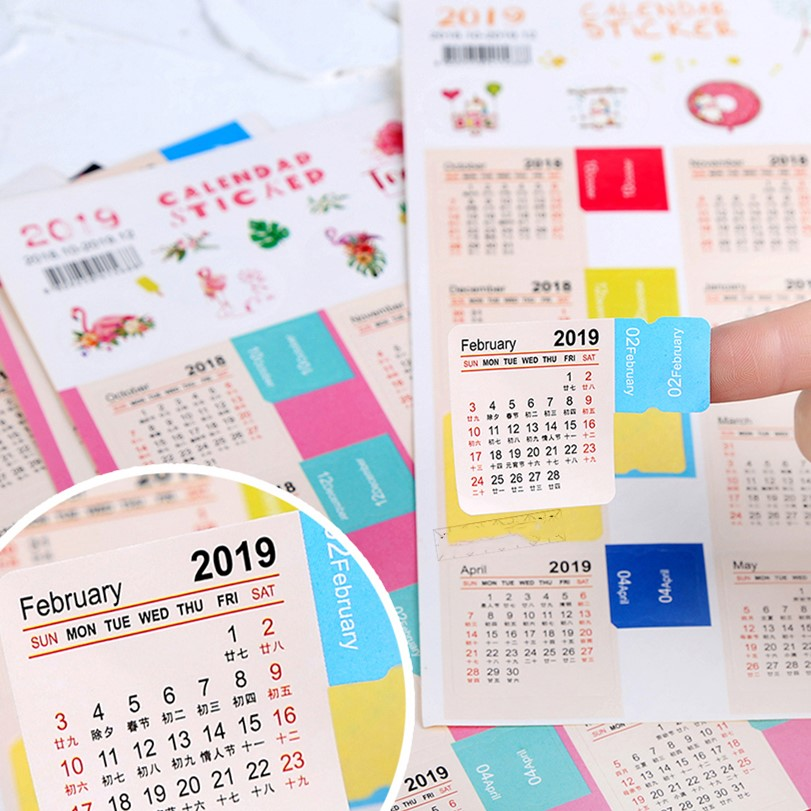 index tabs monthly calendar stickers for planners agendas and