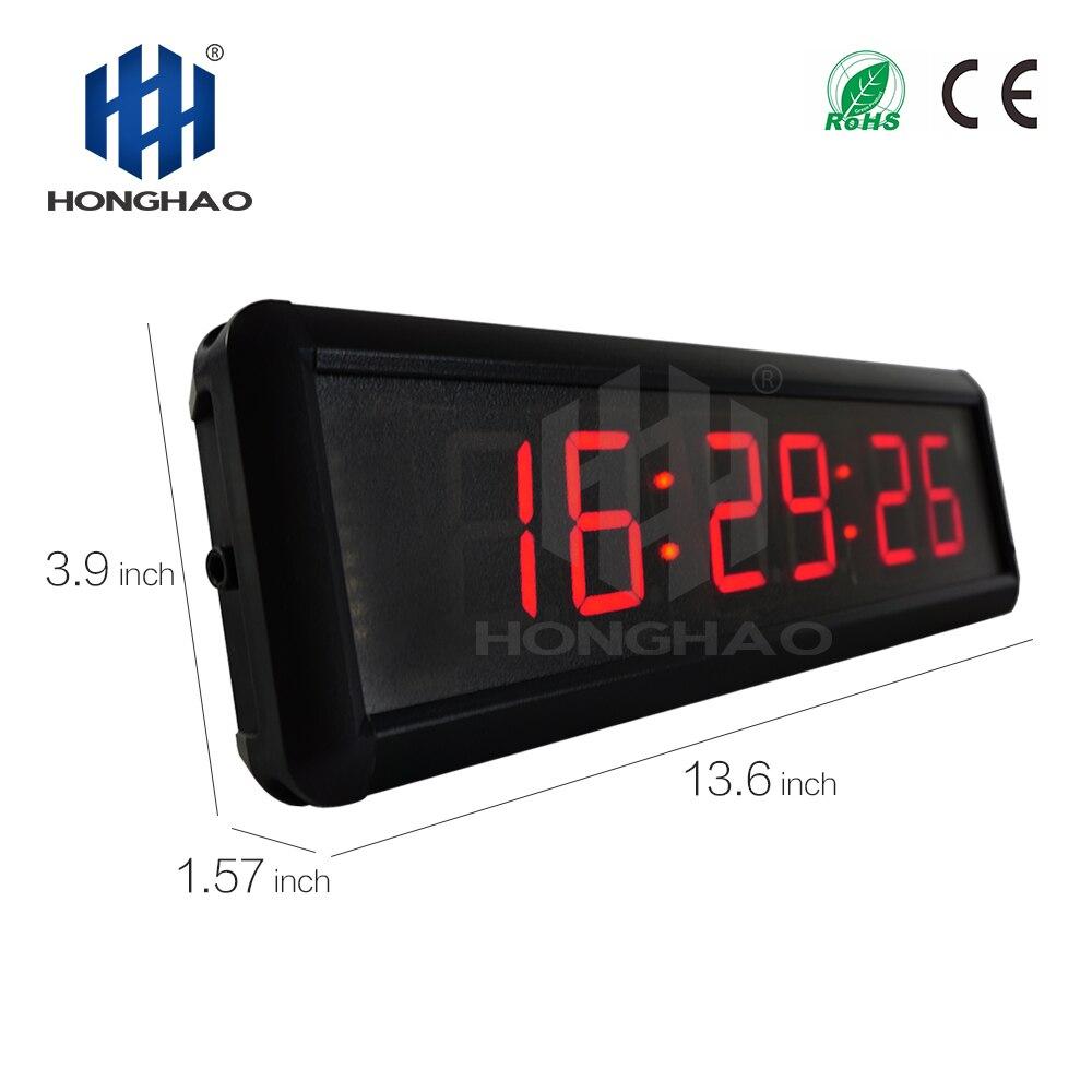 1 шт. большие 3D современные цифровые светодиодный настенные часы 24/12 час дисплей Таймер Будильник - 2