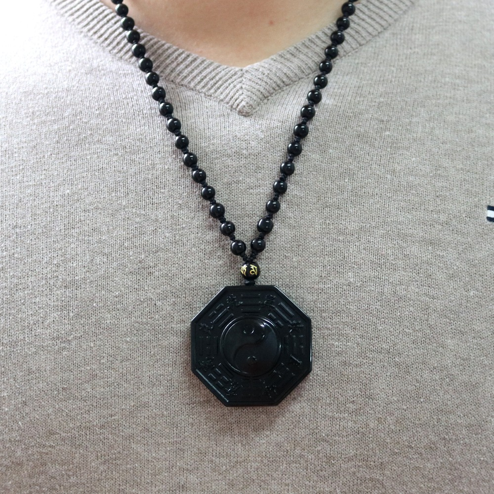 Traditional Obsidian Bagua Pendant 4