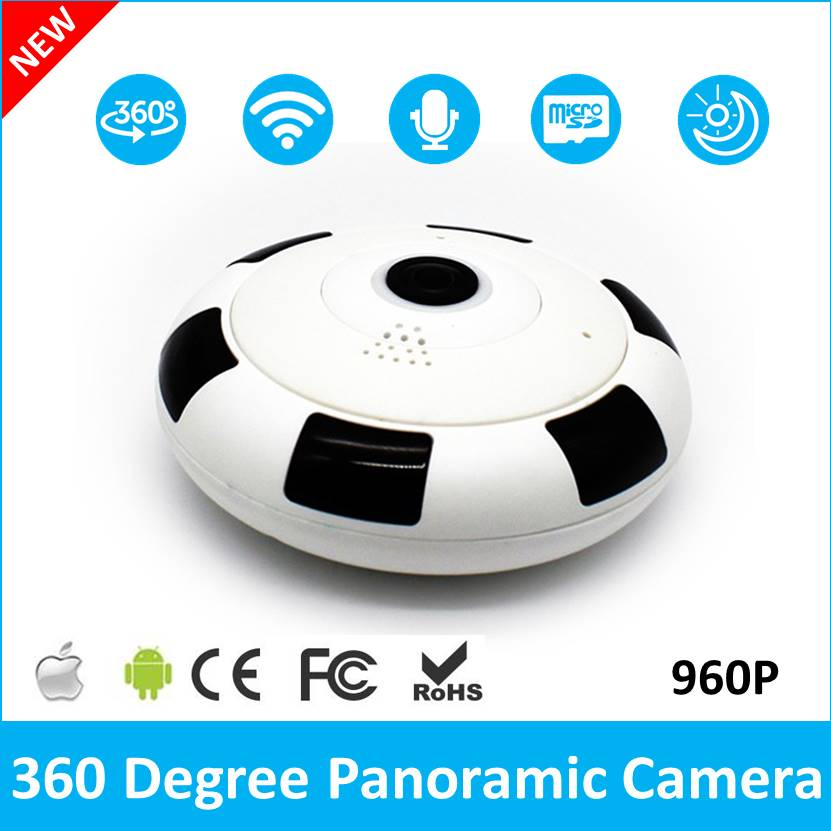 (1 Set ) Home Security Camera 360 Degree Fish Eye Lens IP Camera WiFi Baby Monitor WiFi Camera Two Way Voice Panoramic Camera