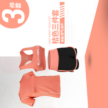 New Summer Women Sets Tops Shorts Set 3 Pieces Tracksuit Female Suits Outfits Lady Student Fashion brand t shirt set