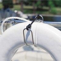 Stainless Steel Horseshoe Lifebuoy Bracket Life Buoys Ring Holder