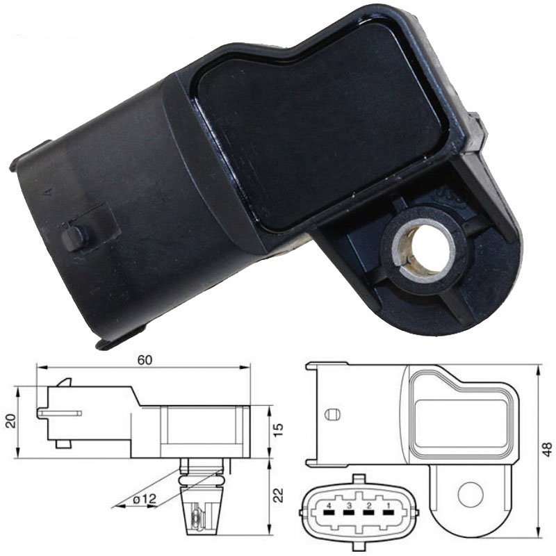 3.5Bar 3.5 Bar Intake Air Manifold Boost Pressure MAP Sensor 0281002456 For CUMMINS Fiat Mercedes-Benz Alfa Romeo Lancia Nissan3.5Bar 3.5 Bar Intake Air Manifold Boost Pressure MAP Sensor 0281002456 For CUMMINS Fiat Mercedes-Benz Alfa Romeo Lancia Nissan