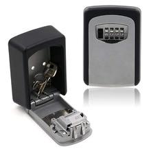 Замок для ключей, дом для хранения ключей коробка с 4 цифрами комбинация уличный Сейф для хранения ключей коробка для снаружи крепкий настенный