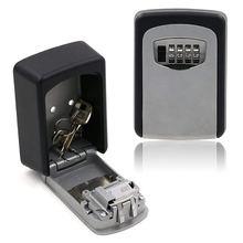 Ящик для ключей ящик хранения с 4 цифрами открытый сейф внешнего