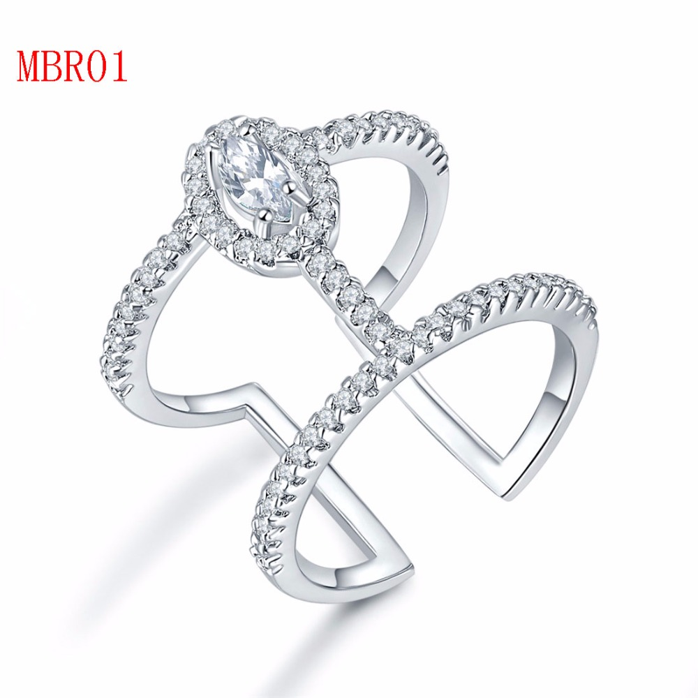 new arrive fashion jewerly sliver gold rings for couple MBR01