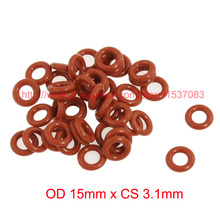 цены OD15mm*CS3.1mm high temperature red silicone rubber seal o ring gasket