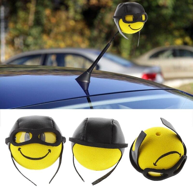 Горячий 1 шт. Автомобиль Стайлинг желтый Забавный мультфильм кукла антенна шары плюш, eva пена антенна высокого качества