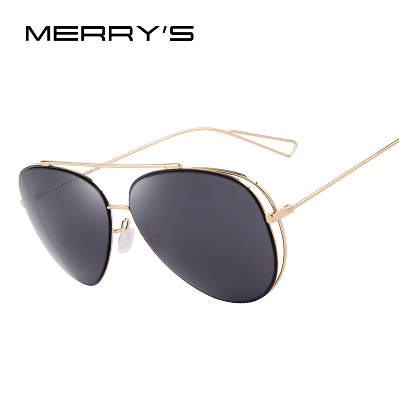 Fashion Women Sunglasses Classic Brand Designer Twin-Beams Coating Mirror Flat Panel Lens Summer Shades S'8582