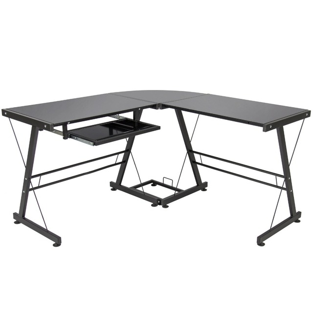 l shape computer desk pc glass laptop table workstation corner home office black buy shape home office