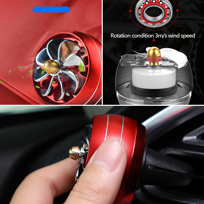 Car Air Freshener LED Lights Auto Fragrance Perfume Universal Fragance Perfume Clip Automobiles Air Conditioning Outlet Diffuser
