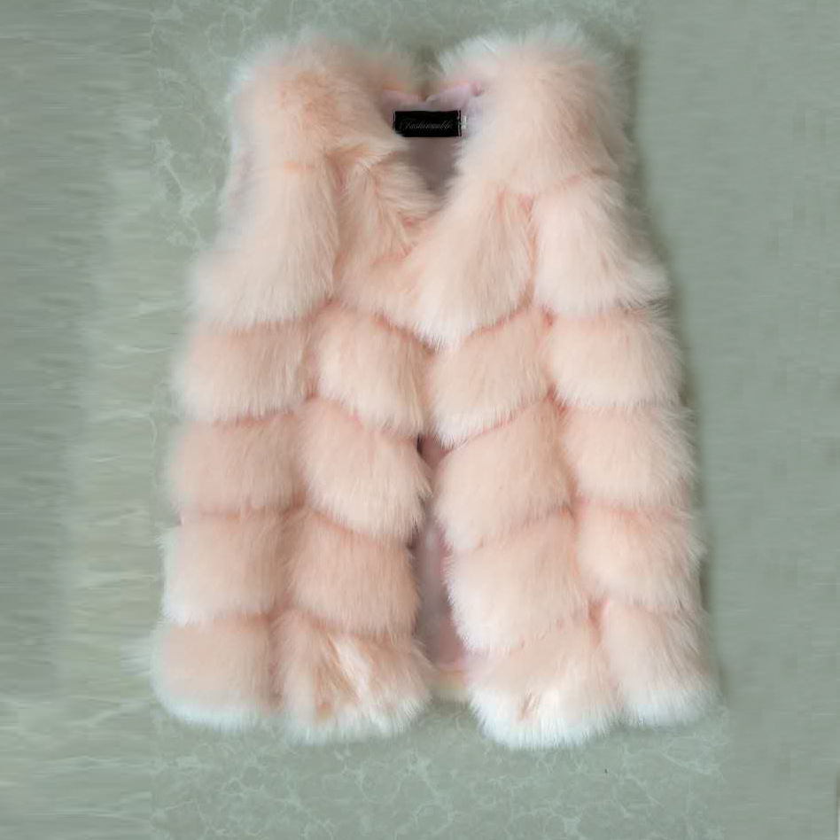 New Fashion Girl Winter Fur Coat children furry Clothes baby Girls and Boys Imitation Fox Fur Coat Jacket 2017 winter children rex imitation rabbit fur imitation fur coat baby girl boy fur coat jacket fpc 56
