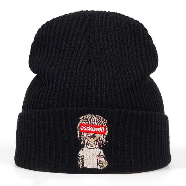 2018 חדש ליל משאבת Esskeetit בימס Skullies גברים נשים היפ הופ כובע סתיו חורף כובעי כובע חם יוניסקס מזדמן כובעים