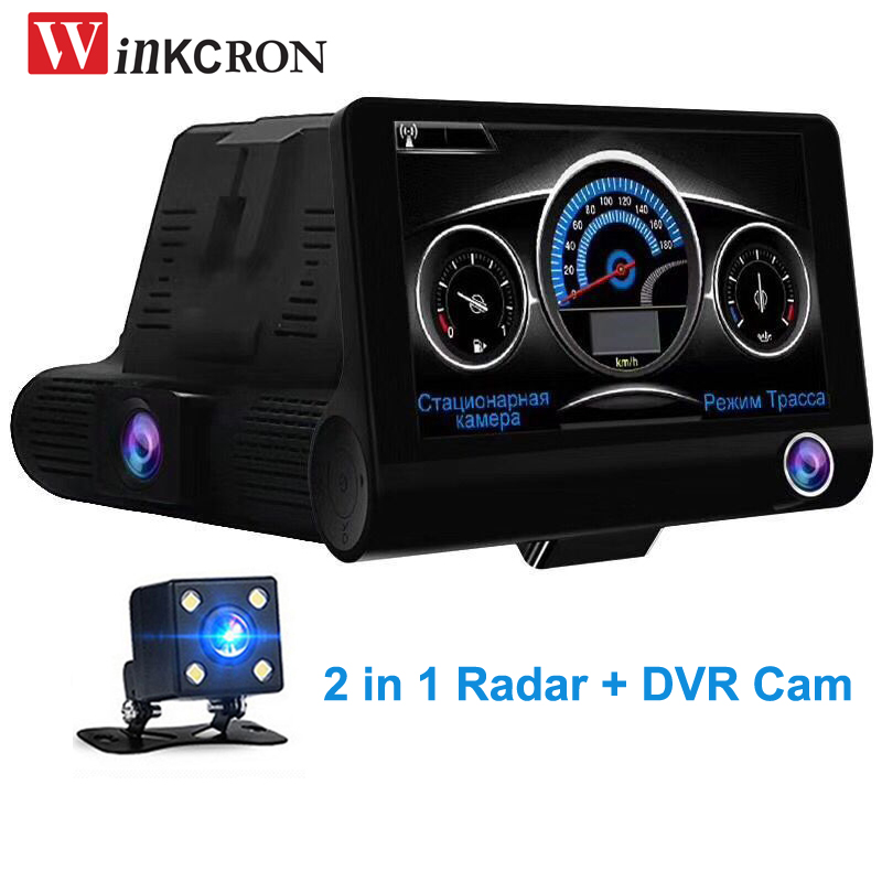 Best Car DVR Radar Detector 2 in 1 Car-detector Camera 4.0
