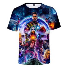 2019 NEW  Avengers 4 final t shirt 3d printing superhero America T Cosplay men new summer fashion