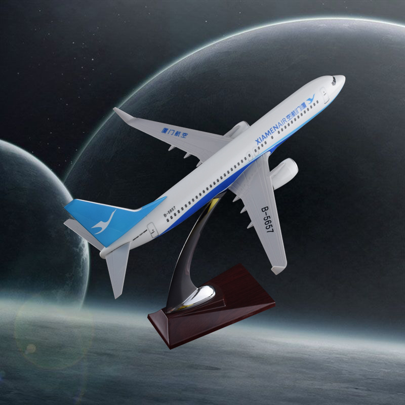 32cm Aircraft Model Boeing 737 Xiamen Air Creative Resin Model Xiamen Airlines B737 Airplane Airways Model Aviation Stand Craft special offer wings xx4361 jc singapore wins an aviation 9v mga 1 400 b737 800 w commercial jetliners plane model hobby