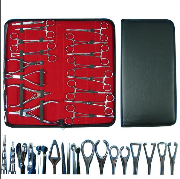 Piercing Tool Set Surgical Steel Belly Tool Ear Tongue Septum Piercing Tools Lip Tweezer Clamp Plier Closer Tool Kit