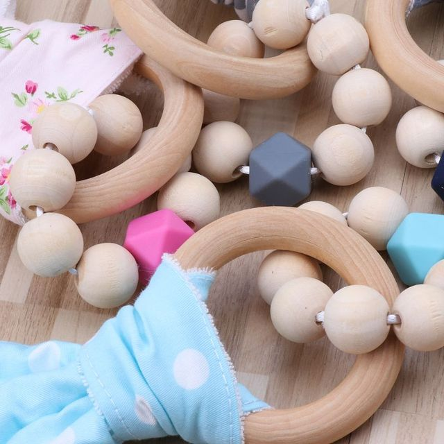 Organic Bunny Bracelet Teether Infant (3-12 months) Shop by Age Teethers & Rattlers Toddler (1-3 years)