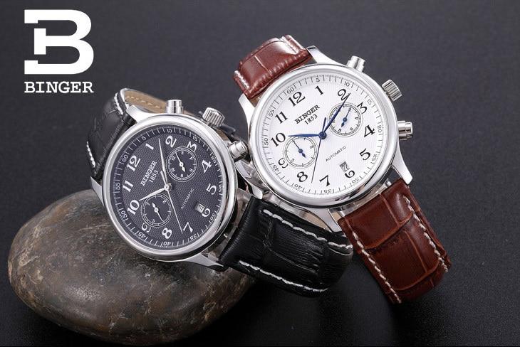 где купить Wristwatches BINGER business Mechanical Wristwatches sapphire full stainless steel men's watches Water Resistant BG-0378 по лучшей цене