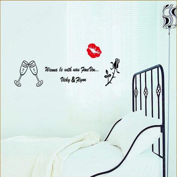 Bedroom Wall Decor Romantic aliexpress : buy romantic flower rose wall sticker living room