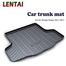 EALEN 1PC Car rear trunk Cargo mat For Nissan Sunny N17 2011 2012 2013 2014 2015 2016 2017 Boot Liner Tray Anti-slip mat ealen 1pc car rear trunk cargo mat for bmw x3 f25 2011 2012 2013 2014 2015 2016 2017 2018 styling boot liner tray anti slip mat