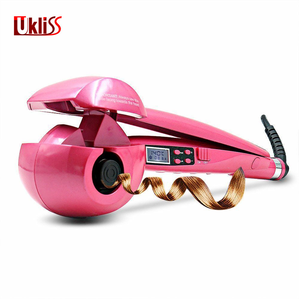 Ukliss Automatic Hair Styling Iron Hair Curler Electric LCD Magic Hair Curling Wand Styler EU US AU UK Plug wholesale pro lcd hair curler styler heating hair styling tools automatic hair curling iron roller curling wand eu us uk au plug