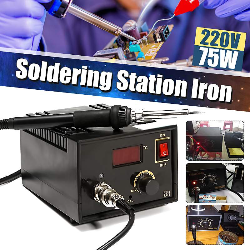 110V-220V SMD Soldering Station Iron LCD Display Desoldering Rework Solder Soldering Iron Welding Repair Tools