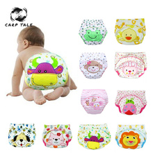 Baby Waterproof Reusable cotton Diapers/Children Cloth Diaper/Reusable Nappies/Training Pants/Diaper Cover Washable Girls Boys new baby diapers washable reusable nappies grid cotton training pant cloth diaper 0 3y x16