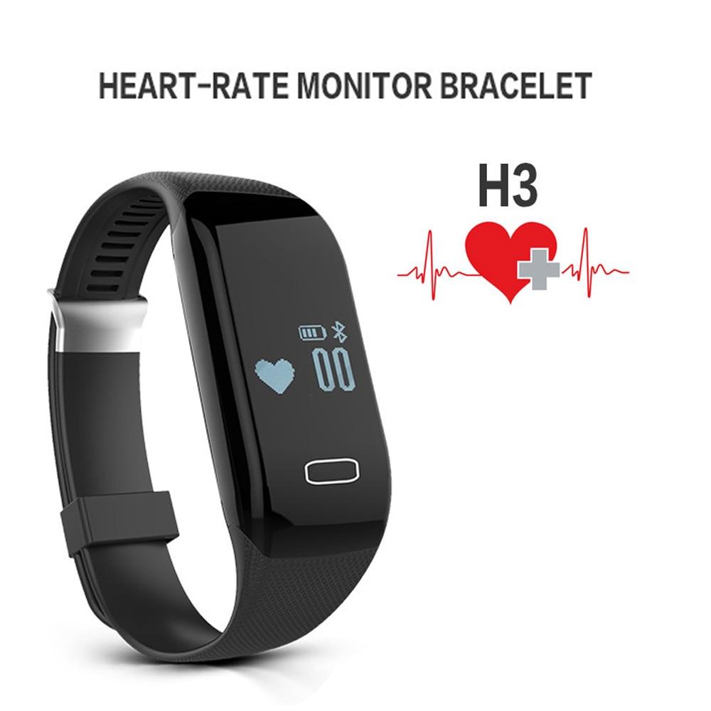 Sports Fitness Tracker Smart Bracelet Wristband Heart Rate Monitor Smartband with Bluetooth 4 0 Passometer Pulsera