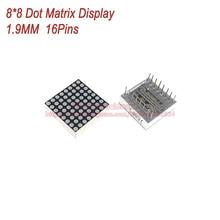 (5 шт./лот) 8×8 8*8 Красный 1.9 мм матричный Дисплей общий анод 16 контактов цифровой трубки Размеры 20*20 мм DIY для Arduino
